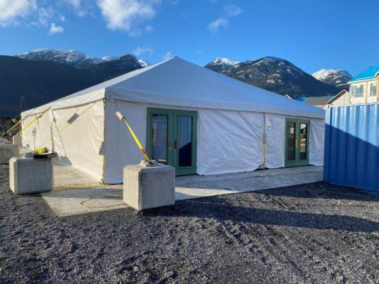 Utility Shelter Temporary