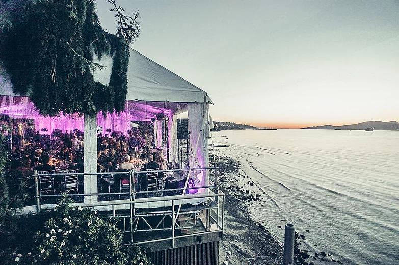 White Waterfront Wedding Tent Elevation Tent Rentals
