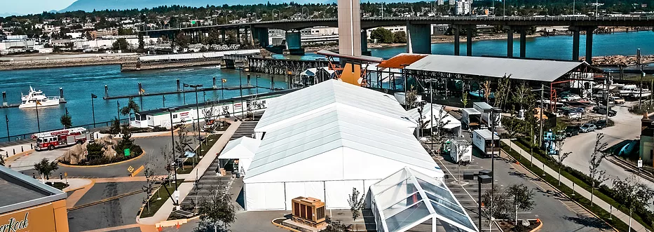 Tent rental in waterfront