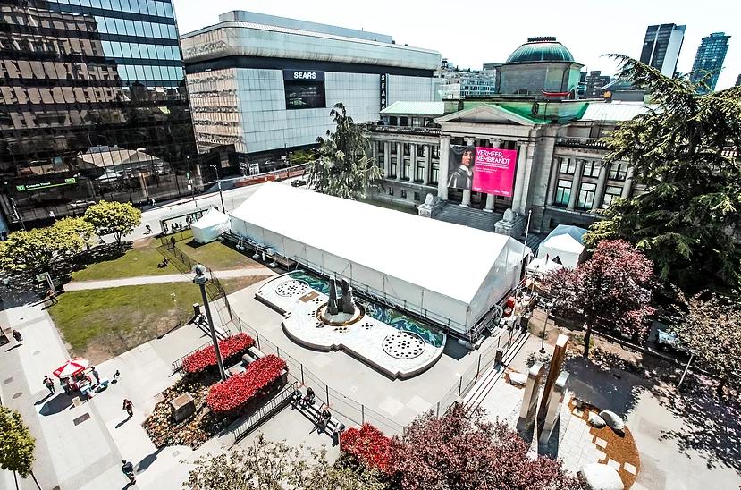 Elevation Tent Rentals Vancouver Museum