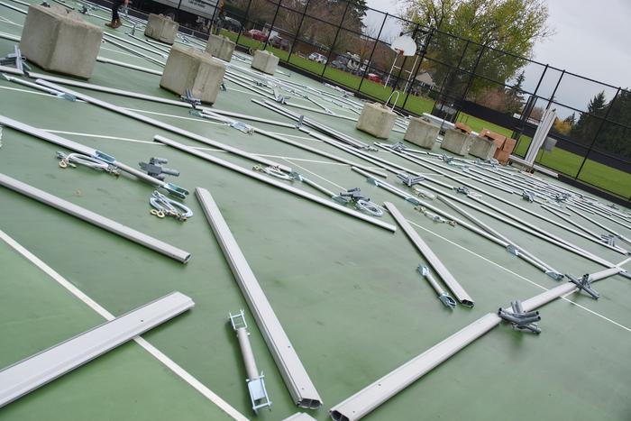 tent installation processes Elevation tent rentals